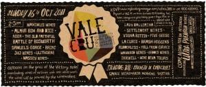 Vale Cru Tasting 16 Oct 2011