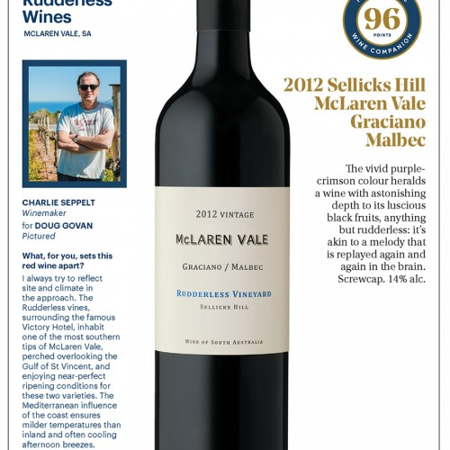 Rudderless Graciano Malbec 96 James Halliday